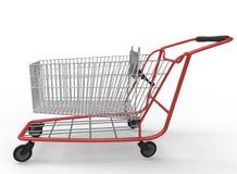 3d illustratie van de kar van de wandelgalerijwinkel Stock Afbeelding