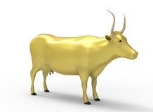 3D illustratie van de koe Royalty-vrije Stock Afbeeldingen
