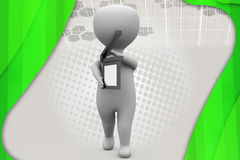 3d illustratie van de mensencapsuleermachine Royalty-vrije Stock Afbeelding