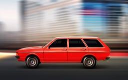 3D illustratie van de oude auto Royalty-vrije Stock Afbeelding