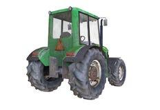 3D illustratie van de oude geroeste tractor op witte achtergrond Stock Foto's