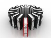 3d illustratie van de stapel van archiefomslagen Stock Afbeelding