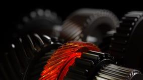 3d illustratie van de wielen van het motortoestel, close-upmening Royalty-vrije Stock Fotografie