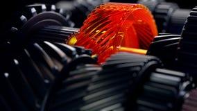 3d illustratie van de wielen van het motortoestel, close-upmening Royalty-vrije Stock Afbeelding