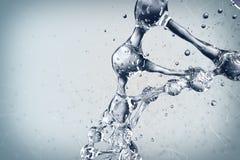 3d illustratie van DNA-moleculemodel van water Stock Foto's