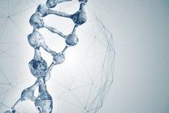 3d illustratie van DNA-moleculemodel van water Royalty-vrije Stock Foto's