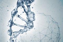 3d illustratie van DNA-moleculemodel van water Royalty-vrije Stock Fotografie