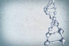 3d illustratie van DNA-moleculemodel van water Royalty-vrije Stock Foto