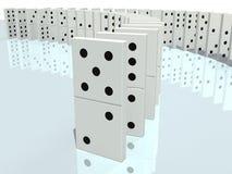 3d illustratie van domino Royalty-vrije Stock Fotografie