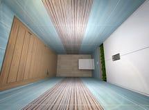 3D illustratie van een toilet in turkooise tonen Stock Foto