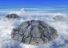 3D Illustratie van een UFO Vreemde Invasie royalty-vrije stock foto