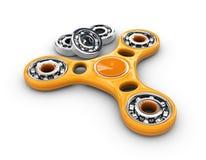 3d Illustratie van Gele Hand friemelt spinnerstuk speelgoed en Lagers Royalty-vrije Stock Foto