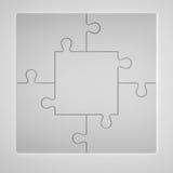 3D illustratie van Grey Puzzles Stock Afbeeldingen
