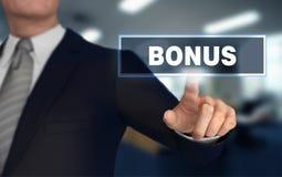 3d illustratie van het bonus de duwende concept Royalty-vrije Stock Fotografie