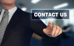 3d illustratie van het contact de duwende concept Stock Foto