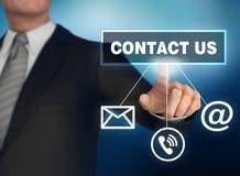 3d illustratie van het contact de duwende concept stock illustratie