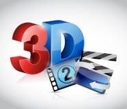 3D illustratie van het filmconcept Stock Foto's