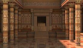 3D Illustratie van het Pharaohspaleis Stock Afbeelding