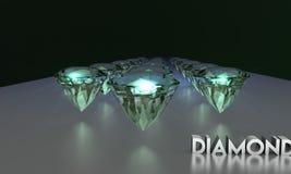 3D illustratie van het Webontwerp van fonkelende diamanten stock foto's