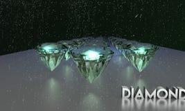 3D illustratie van het Webontwerp van fonkelende diamanten royalty-vrije stock afbeelding