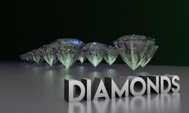 3D illustratie van het Webontwerp van fonkelende diamanten stock afbeeldingen