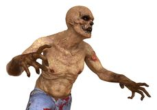 3D Illustratie van het zombiemonster Stock Illustratie