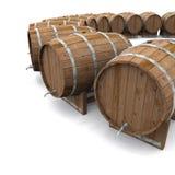 Houten wijn of biervatten Stock Fotografie