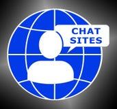 3d Illustratie van Logo Means Discussion van praatjeplaatsen stock illustratie