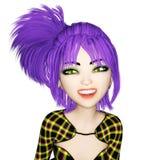 3D Illustratie van Manga Girl Royalty-vrije Stock Afbeeldingen