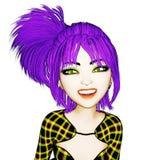 3D Illustratie van Manga Girl Vector Illustratie