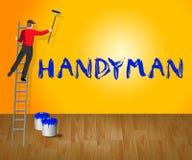 3d Illustratie van Means Home Repairman van het huismanusje van alles Stock Afbeelding