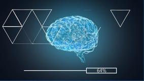 3D illustratie van Menselijke Hersenen royalty-vrije illustratie