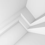 3d Illustratie van Modern Binnenlands Ontwerp Minimale Architectuur Royalty-vrije Stock Foto
