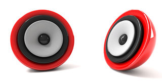 3d illustratie van moderne audiospreker over witte achtergrond Stock Fotografie