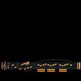 3d illustratie van muzieknoten Stock Afbeelding