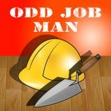 3d Illustratie van Odd Job Man Represents House Repair Royalty-vrije Stock Afbeeldingen