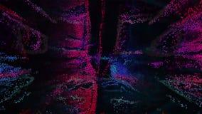 3D Illustratie van pixelart abstract Royalty-vrije Stock Afbeelding