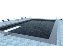 3d illustratie van pool Stock Foto's