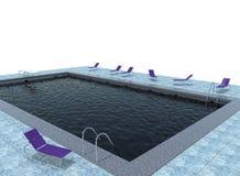3d illustratie van pool Royalty-vrije Stock Foto