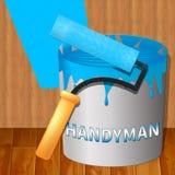 3d Illustratie van Represents Home Repairman van het huismanusje van alles royalty-vrije illustratie