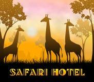 3d Illustratie van Safari Hotel Showing Wildlife Reserve stock illustratie