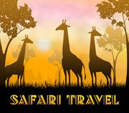 3d Illustratie van Safari Travel Showing Wildlife Reserve vector illustratie