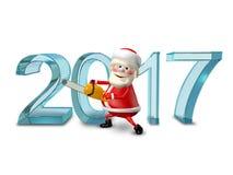 3D Illustratie van Santa Claus Figures Cuts Stock Foto's