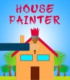 3d Illustratie van schildermeans home painting royalty-vrije illustratie