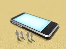 3D illustratie van slimme telefoon vector illustratie