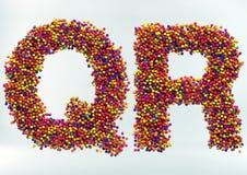 3D Illustratie van Suikergoed Dot Alphabet stock afbeelding