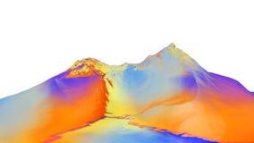 3D illustratie van surreal geleibergen Stock Foto
