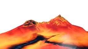3D illustratie van surreal geleibergen Royalty-vrije Stock Fotografie