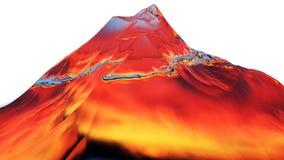 3D illustratie van surreal geleibergen Stock Afbeeldingen
