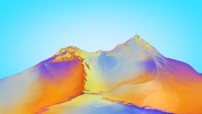 3D illustratie van surreal geleibergen Royalty-vrije Stock Foto